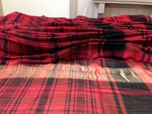 tartan checked cloth